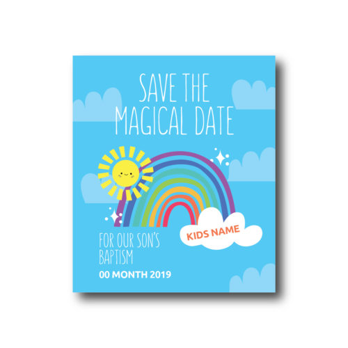 Save the Magical Date - Δωρεάν Ηλεκτρονική Πρόσκληση Βάπτισης με Όνομα