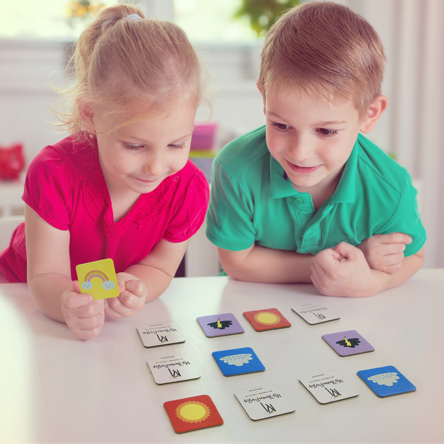 Rainbow Party Memory Cards